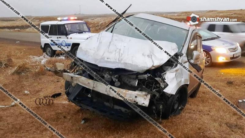 Ավտովթար Շիրակի մարզում.  Nissan Tiida-ի 24-ամյա վարորդը տեղափոխվել է հիվանդանոց