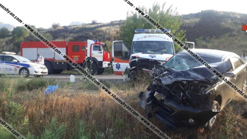 Վայոց Ձորում բախվել են հիվանդ տեղափոխող շտապօգնության ավտոմեքենան ու Toyota Camry-ն. կա 7 վիրավոր
