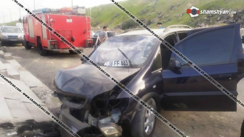 Խոշոր ավտովթար Երևանում․ 4 հոգի մարմնական վնասվածքներով հոսպիտալացվել է