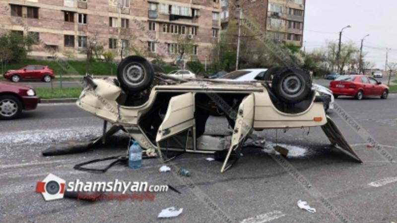 Արտակարգ դեպք Երևանում. Նոր-Նորք վարչական շրջանում 06-ը գլխիվայր շրջվել է