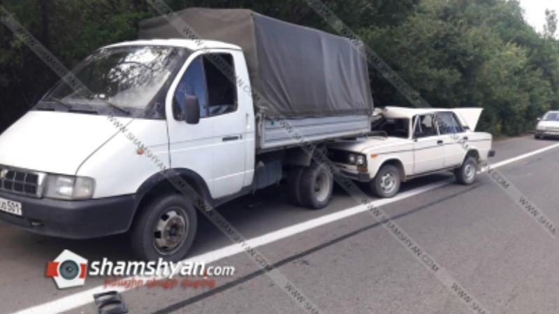 Ավտովթար Կոտայքի մարզում. 80-ամյա վարորդը 06-ով բախվել է բեռնատար ГАЗель-ին