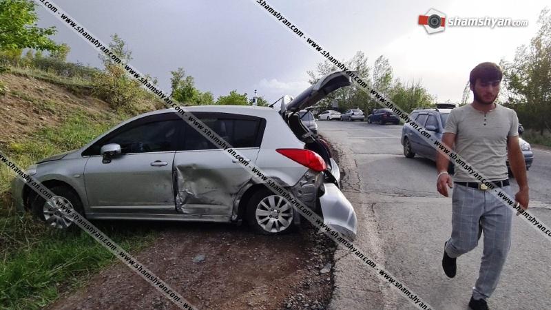 Ավտովթար Կոտայքի մարզում. Ջրվեժ-Ողջաբերդ ճանապարհին բախվել են Mercedes-ն ու Nissan Tiida-ն