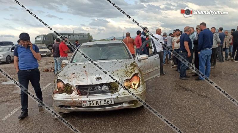 Գեղարքունիքի մարզում Mercedes-ը մխրճվել է ոչխարի հոտի մեջ․ 30-ից ավելի ոչխար սատկել է