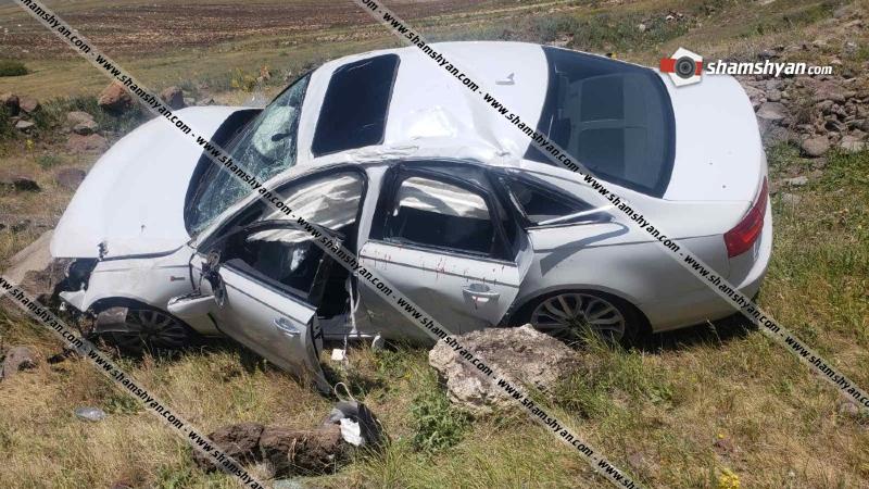 Սյունիքի մարզում Audi A6-ը մի քանի պտույտ գլորվելով, հայտնվել է ձորում. կա 5 վիրավոր