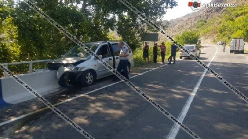 Ողբերգական ավտովթար Մեղրիում. Mazda-ն բախվել է կամրջի բետոնե հենապատին․ կամ 1 զոհ, 2 վիրավոր