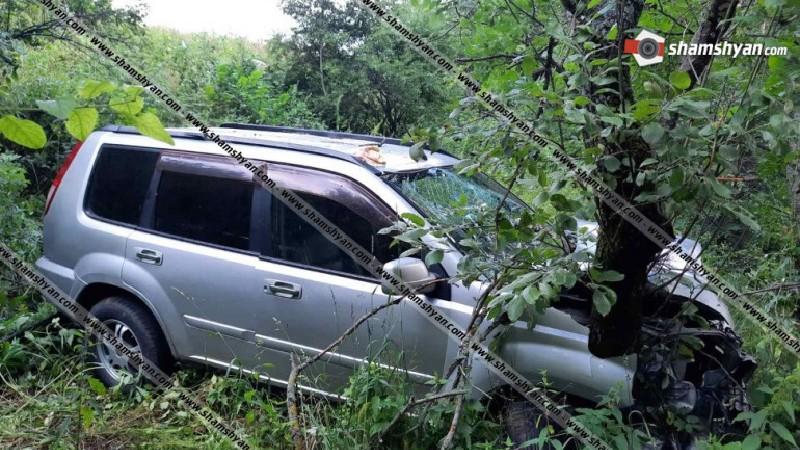 Nissan-ը Դիլիջանի ոլորաններում դուրս է եկել ճանապարհից և հայտնվել է ձորում. կա վիրավոր
