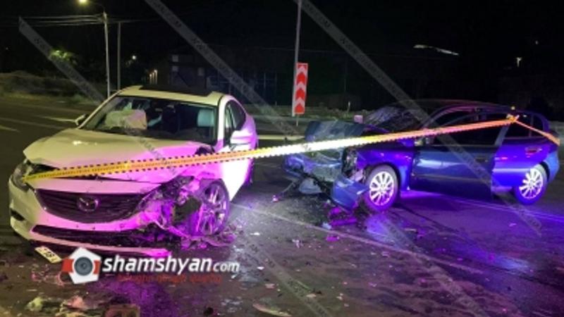 Խոշոր ավտովթար Երևանում. բախվել են Mazda-ն ու Opel-ը. վարորդները տեղափոխվել են հիվանդանոց