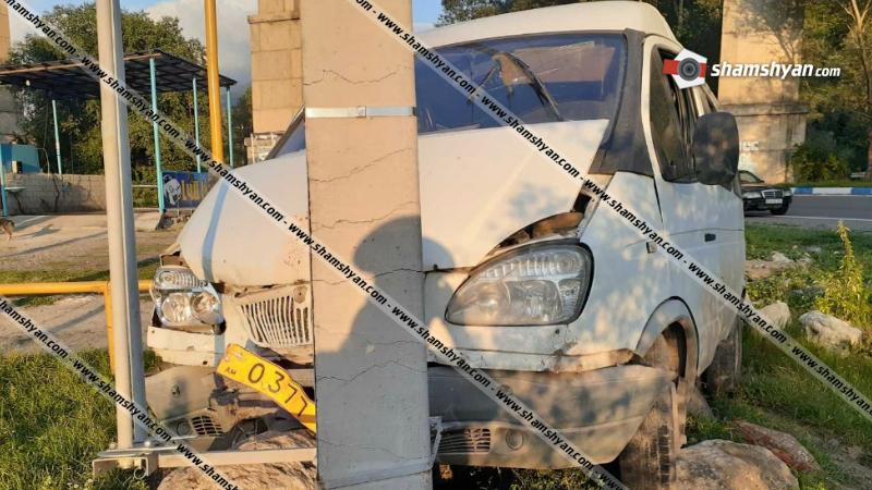 Ողբերգական ավտովթար Տավուշի մարզում. մարդատար ГАЗель-ը բախվել է էլեկտրասյանը. վարորդը մահացել է