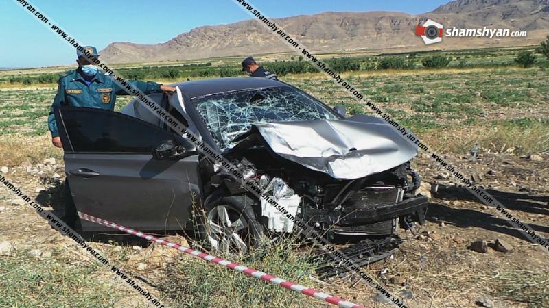 Արարատի մարզում  ճակատ-ճակատի բախվել են Hyundai Elantra-ն ու Toyota Ipsum-ը. կա 1 զոհ, 9 վիրավոր