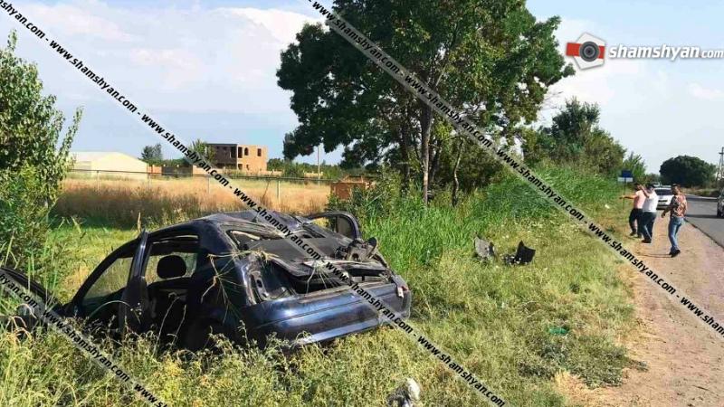 Խոշոր ավտովթար Արմավիրի մարզում. 19-ամյա վարորդը Opel-ով հայտնվել է ջրատարում
