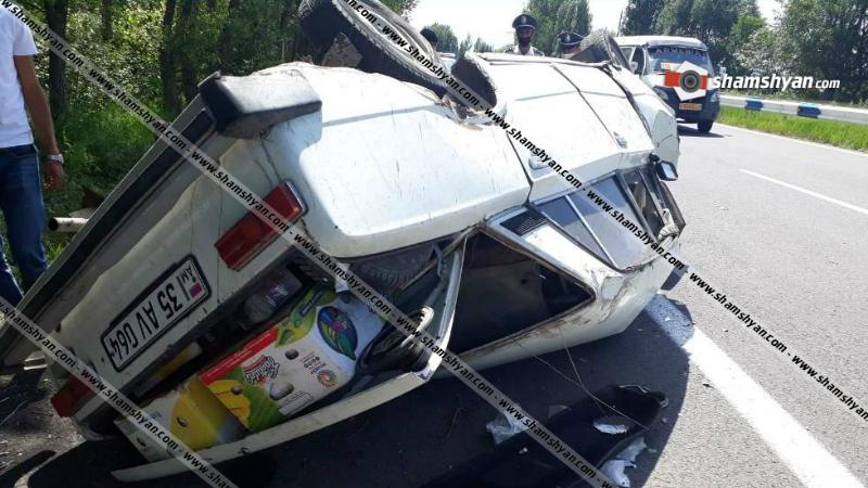 Գեղարքունիքի մարզում 37-ամյա վարորդը ՎԱԶ 2101-ով բախվել է ծառերին և գլխիվայր շրջվել. կա վիրավոր