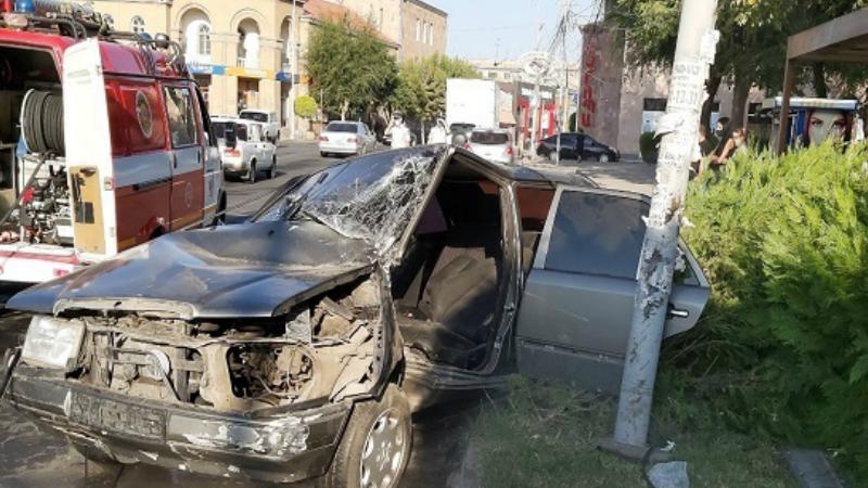 Վթար Օգոստոսի 23 և Շահումյան փողոցների խաչմերուկում. կա տուժած