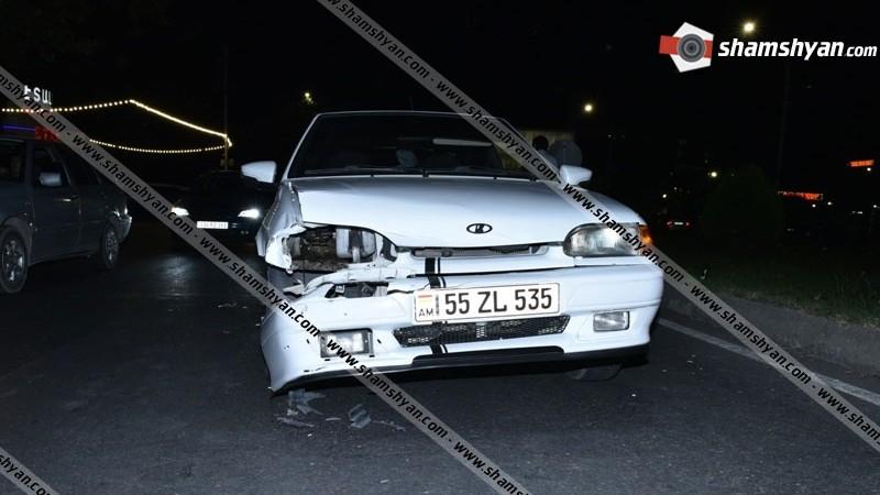 Երևանում բախվել են Toyota-ն ու Lada Priora-ն