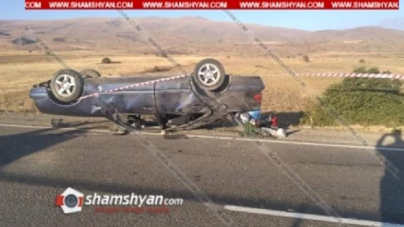 Երևան-Երասխ-Մեղրի ավտոճանապարհին Mercedes է շրջվել. կա 1 զոհ, 6 վիրավոր