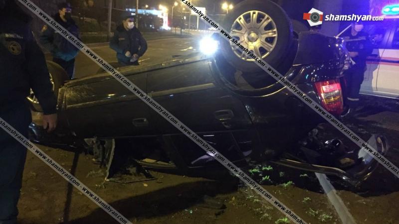 Խոշոր ավտովթար Մյասնիկյան պողոտայում․ «Բելաջիո»-ի դիմաց գլխիվայր շրջվել է Opel մակնիշի ավտոմեքենան․ վարորդը հոսպիտալացվել է