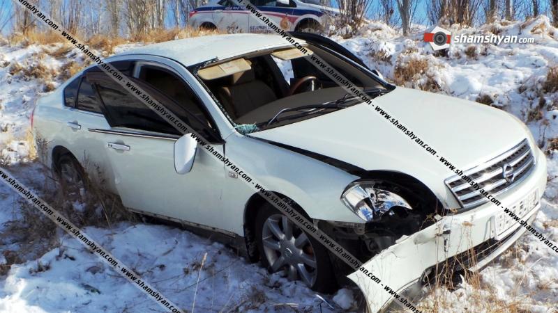 Արտակարգ դեպք Արագածոտնի մարզում․ Nissan-ը բախվել է քարերին և հայտնվել ձորակում