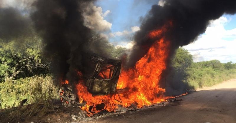 Իջևան-Նոյեմբերյան ճանապարհին այրվում է բեռնատար ավտոմեքենա. ահազանգ
