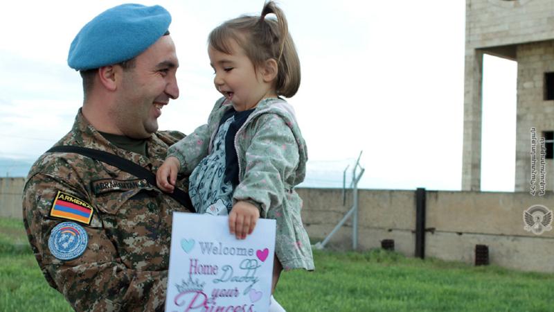 Լիբանանում խաղաղարար առաքելություն իրականացրած հայ զինծառայողները վերադարձել են Հայաստան (լուսանկարներ)