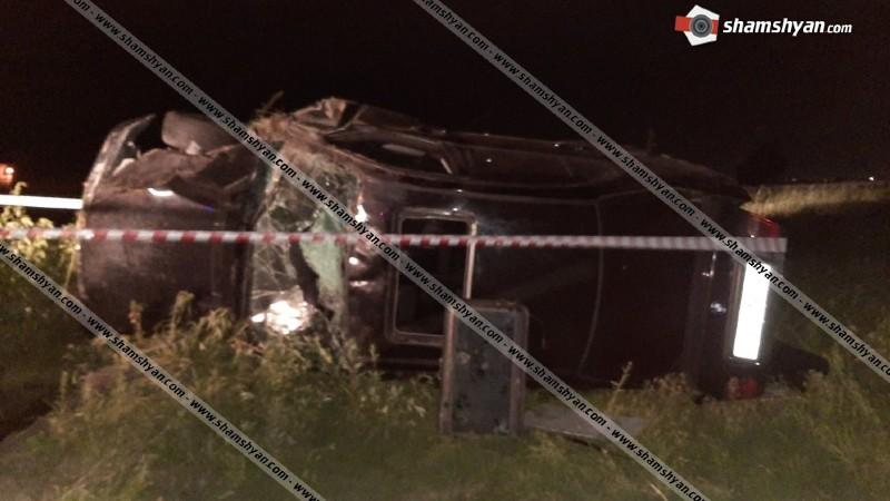 Խոշոր ավտովթար Արմավիրի մարզում. 26-ամյա վարորդը BMW-ով կողաշրջված վիճակում հայտնվել է դաշտում. ՊՆ 2 ծառայող տեղափոխվել են հիվանդանոց