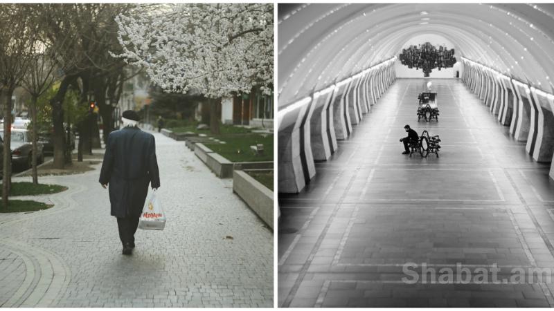 Արտակարգ դրություն, օր 9-րդ. երևանյան կիսադատարկ փողոցները՝ Shabat.am-ի ֆոտոշարքում (լուսանկարներ)