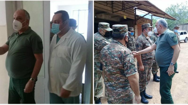 ՀՀ զինդատախազն այցելել է նաև Բերդի զինվորական հոսպիտալում բուժում ստացող՝ ադրբեջանական հանցավոր գործողությունների արդյունքում վիրավորված զինծառայողներին