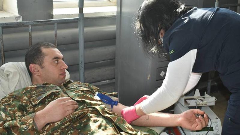 5-րդ զորամիավորման մի շարք զինծառայողներ կամավորության սկզբունքով արյուն են հանձնել