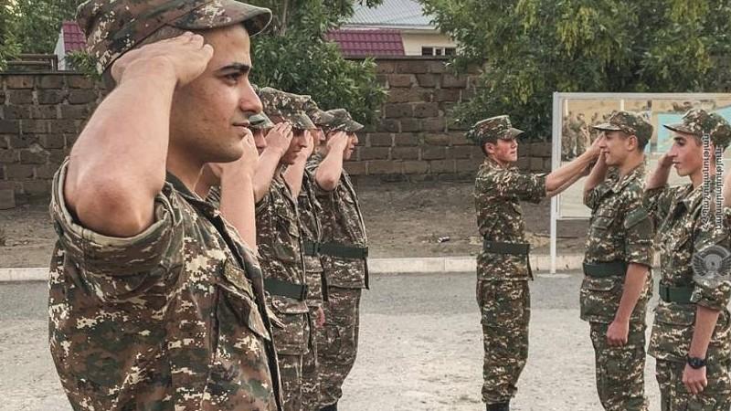 Զորամիավորումներում շարունակվում են նորակոչիկ զինծառայողների մարտական պատրաստության պարապմունքները