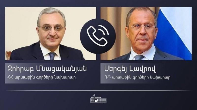 ԱԳ նախարար Զոհրաբ Մնացականյանը հեռախոսազրույցը  է ունեցել ՌԴ ԱԳ նախարար Սերգեյ Լավրովի հետ