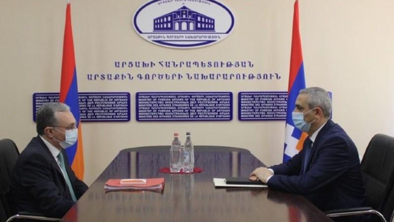 Հայաստանի և Արցախի ԱԳ նախարարներն անդրադարձել են հակամարտության կարգավորման գործընթացի ներկա փուլին առնչվող մի շարք հարցերի