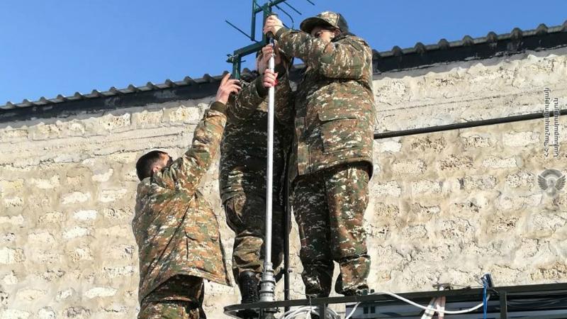 1-ին զորամիավորման կապի ստորաբաժանումների զինծառայողների հետ անցկացվել են ուսումնական վարժանքներ