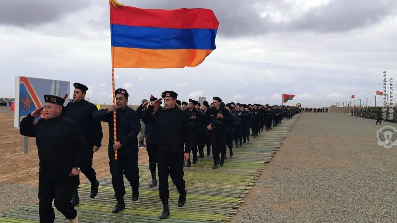 Հայ զինծառայողները մասնակցել են «Կովկաս -2020» զորավարժությունների բացման արարողությանը (լուսանկարներ)