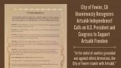 ԱՄՆ-ի Ֆաուլեր քաղաքը ճանաչել է Արցախի անկախությունը