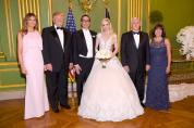 Дональд и Мелания Трамп побывали на свадьбе министра финансов США Стивена Мнучина (фото)