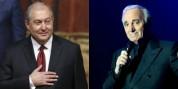 Ապրել, սիրել ու տառապել ենք Շառլի նման. Նախագահ Արմեն Սարգսյանը շնորհավորել է Շառլ Ազնավու...