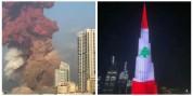 Դուբայում Բուրջ Խալիֆան ի նշան համերաշխության լուսավորվել է լիբանանյան դրոշի գույներով (տե...