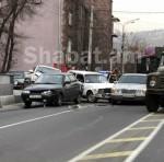 Խանջյան փողոցում շղթայական ավտովթար է տեղի ունեցել