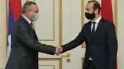 Արարատ Միրզոյանն առանձնազրույց է ունեցել Արցախի Ազգային ժողովի նախագահի հետ