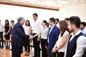 ՀՀ նախագահն ընդունել է ԵՊՀ ուսանողներին