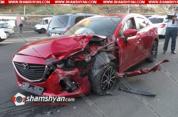 5 վիրավոր՝ Երևանում Mazda-Opel-Lada բախումից. Shamshyan.com