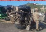 Տավուշի մարզում շրջվել է զինծառայողների տեղափոխող բեռնատարը