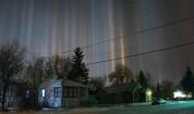 Պետերբուրգի բնակիչները «լուսային սյուների» ականատես են եղել (լուսանկարներ)