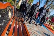 С мэром Еревана и моим хорошим другом Тароном Маргаряном открыли в Риге Ереванский сквер