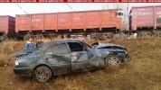 Լոռու մարզում բախվել են բեռնատար գնացքն ու Mercedes-ը. կան վիրավորներ