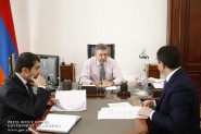 Արագածոտնի մարզպետը վարչապետին է ներկայացրել հանձնարարականների կատարման ընթ...