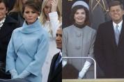 Տիկնայք կապույտի մեջ․ Մելանյա Թրամփն իր ամուսնու՝ Դոնալդ Թրամփի երդմնակալությանը ներկայացել է Ժակլին Քենեդու ոճով