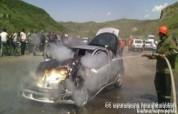 Խնձորեսկ գյուղում ավտոմեքենան ամբողջությամբ այրվել է