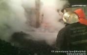 Վանաձորի ավտոտնակներից մեկում 6 հատ սառնարան եւ կահույք է այրվել