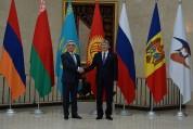 Как встретили Сержа Саргсяна в Бишкеке (видео)