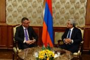 Սերժ Սարգսյանն ու Ֆրանկ Էնգելը մտքեր են փոխանակել ԼՂ հիմնախնդրի խաղաղ կարգավորման գործընթա...