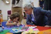 Президент присутствовал на открытии детского реабилитационного центра